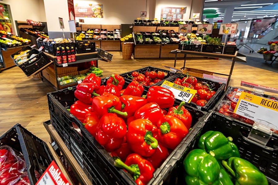 Gemüse vom Supermarkt in Weiden
